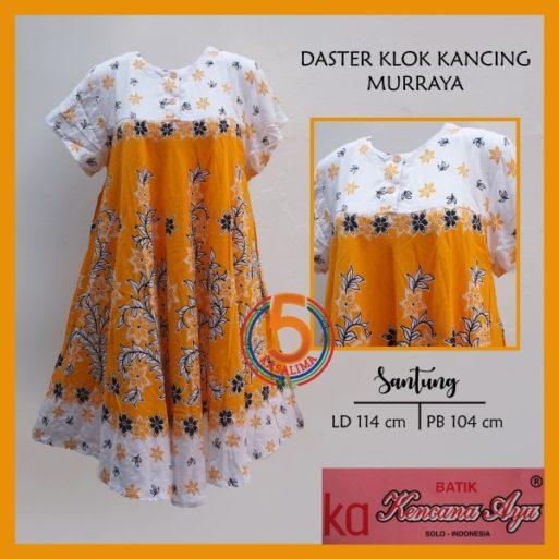 daster-klok-kancing-batik-kencana-ayu- murraya-kuning-kasa-limasolo