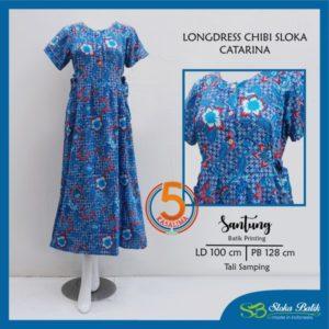 longdress-chibi-santung-printing-tali-samping-sloka-batik-catarina-biru-kasa-lima-kasalima-solo