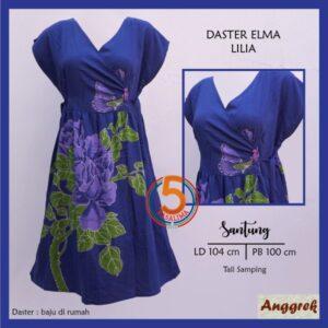 daster-elma-santung-printing-tali-samping-anggrek-lilia-biru-kasa-lima-kasalima-kasa-lima-solo