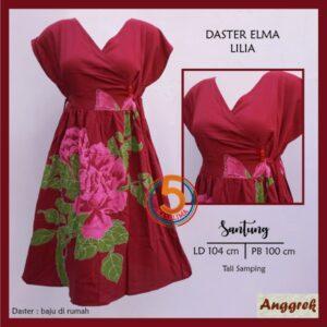 daster-elma-santung-printing-tali-samping-anggrek-lilia-maroon-kasa-lima-kasalima-kasa-lima-solo