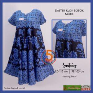 daster-klok-bobok-santung-printing-kancing-dada-kencana-ungu-mode-biru-kasa-lima-kasalima-solo