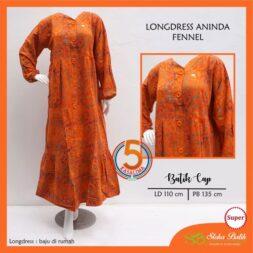 longdress-aninda-batik-cap-super-kancing-depan-sloka-batik-fennel-oren-kasa-lima-kasalima-kasa-lima-solo