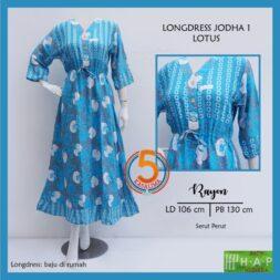 longdress-jodha-1-rayon-printing-kancing-dada-serut-perut-hap-lotus-biru-kasa-lima-kasalima-solo