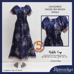 longdress-smoke-renda-santung-batik-cap-ramaniya-wings-biru-kasa-lima-kasalima-solo