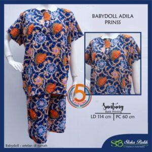 babydoll-adila-santung-printing-kancing-dada-sloka-batik-prinss-biru-kasalima-kasa-lima-kasa-lima-solo