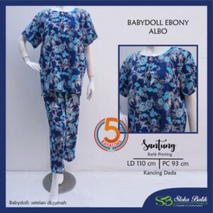 babydoll-ebony-santung-printing-kancing-dada-sloka-batik-albo-biru-kasa-lima-kasalima-kasa-lima-solo