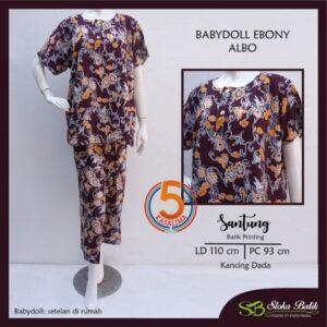 babydoll-ebony-santung-printing-kancing-dada-sloka-batik-albo-maroon-kasa-lima-kasalima-kasa-lima-solo
