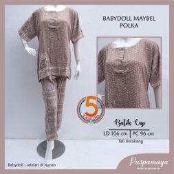 babydoll-maybel-batik-cap-kancing-dada-tali-belakang-puspamaya-polka-coklat-kasa-lima-kasalima-kasa-lima-solo