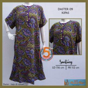daster-09-santung-printing-kancing-dada-kencana-ungu-label-biru-kipas-hijau-kasa-lima-kaslima-kasa-lima-solo