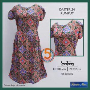 daster-24-santung-printing-tali-samping-kancing-dada-kuda-mas-rumput-hijau-kasa-lima-kasalima-kasa-lima-solo