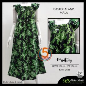 daster-alanis-printing-kerut-dada-sloka-batik-mala-hijau-kasa-lima-kasalima-kasa-lima-solo