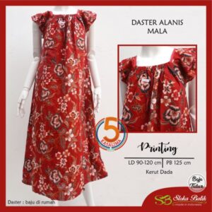 daster-alanis-printing-kerut-dada-sloka-batik-mala-merah-kasa-lima-kasalima-kasa-lima-solo