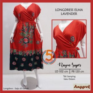 longdress-elma-rayon-super-tali-samping-saku-dalam-anggrek-lavender-oren-kasa-lima-kasalima-kasa-lima-solo
