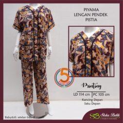 piyama-lengan-pendek-celana-panjang-kancing-dada-saku-depan-printing-santung-sloka-batik-pistia-maroon-kasa-lima-kasalima-kasa-lima-solo